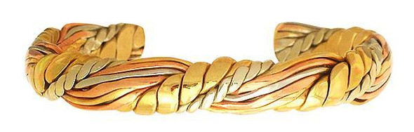 Honeysuckle Weave (82) Classic Copper Bracelet