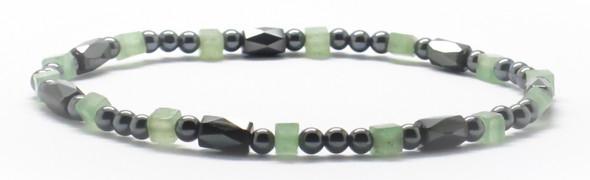 Green Squares - Magnetic   Anklet