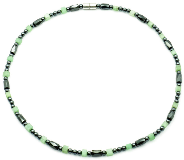 Harmony  - Semiprecious Hematite Magnetic Necklace - Colors may vary