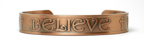 Believe  - Copper Magnetic Therapy Bracelet