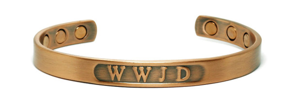 WWJD - Copper magnetic bracelet