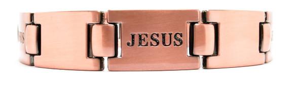 Jesus - Copper Plated Magnetic Bracelet