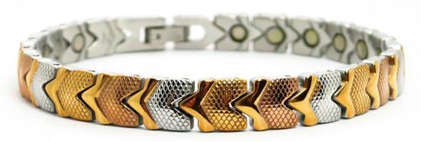 Autumn Hearts -  Stainless Steel Magnetic    Bracelet