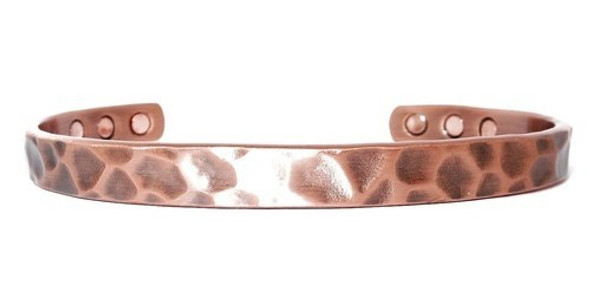 X-Large Hammered Copper - Great Looking Magnetic Bracelet