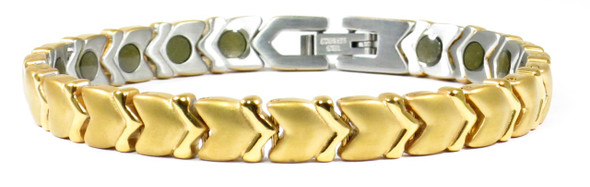 Gold Tone Memories  - Gold-Plated Stainless Steel magnetic bracelet