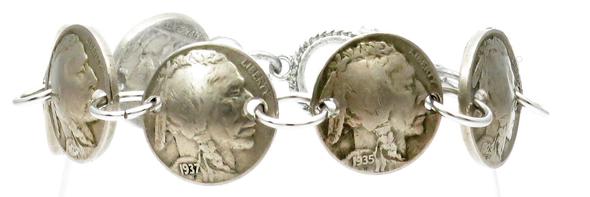 Indian Head  Nickel Magnetic Bracelet - Handmade