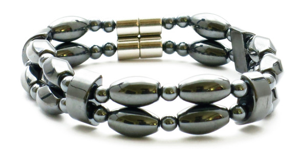 Duo - Hematite Magnetic Therapy Bracelet
