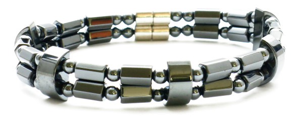 Double String - Hematite magnetic bracelet or Anklet
