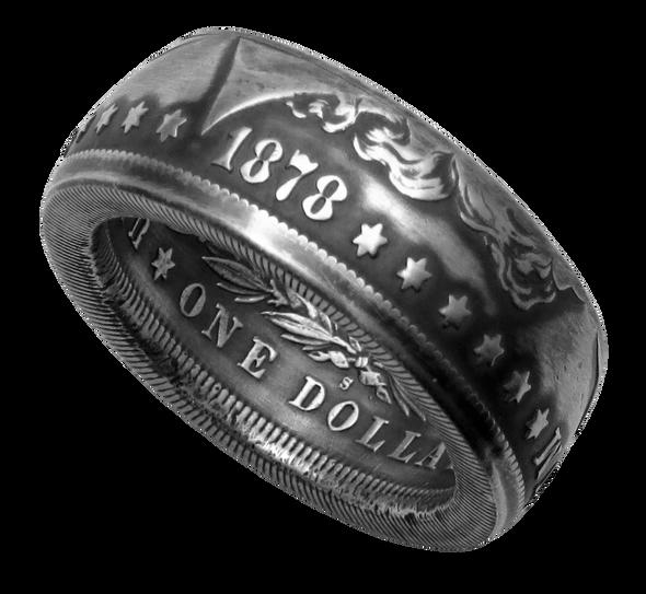 Morgan Dollar Coin Ring Handmade (90% Silver)
