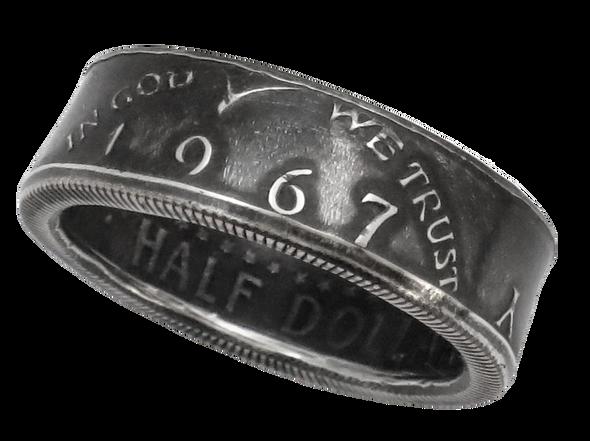 JFK Kennedy Half Dollar Coin Ring Handmade