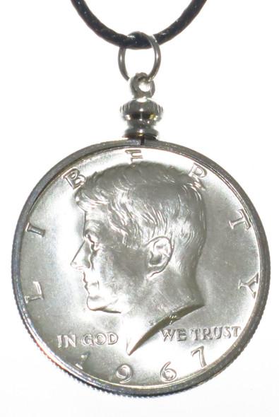 JFK Kennedy Half Dollar Pendant