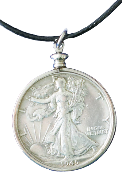 Walking Liberty Half Dollar (90%  Silver) Pendant