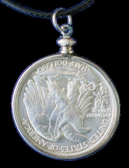 Walking Liberty Half Dollar (90%  Silver) Pendant