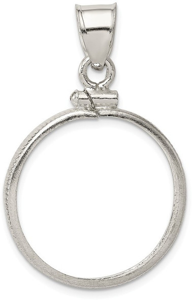 Sterling Silver 21.1 x 2mm $0.05 Plain Coin Bezel Pendant