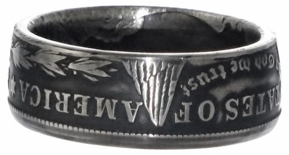 Morgan Dollar Coin Ring Handmade United States