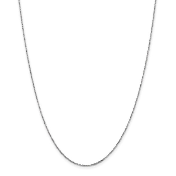 """22"""" 14k White Gold 1.1mm Ropa Chain Necklace"""
