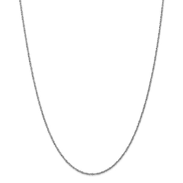 """22"""" 14k White Gold 1.7mm Ropa Chain Necklace"""