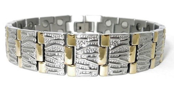CEO's Choice - Titanium Magnetic Bracelet - Two 5,000 gauss magnet per link