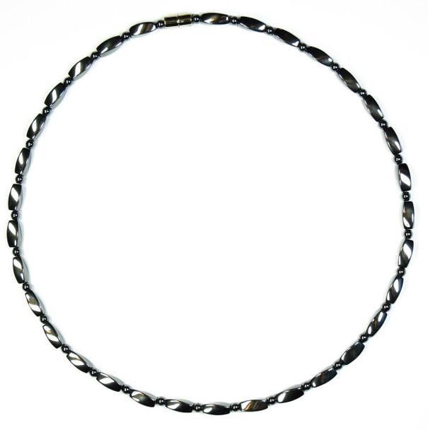 Hematite Twist - Magnetic Necklace