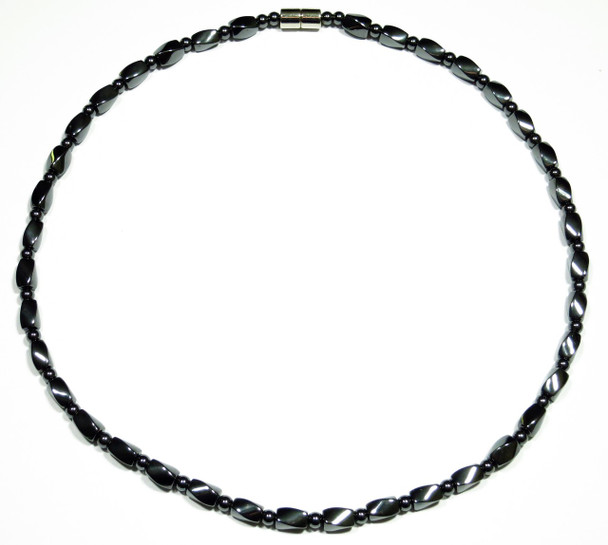 Hematite Shaped Twists - Magnetic Necklace