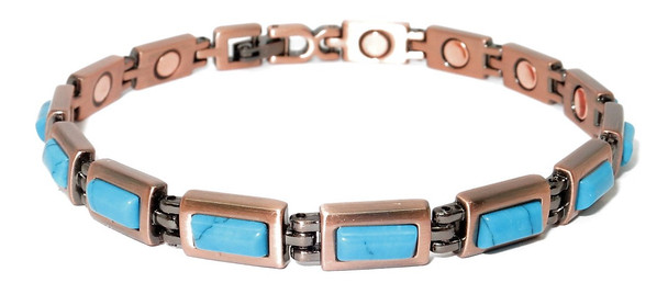 California - Copper simulated Turquoise  Magnetic Bracelet
