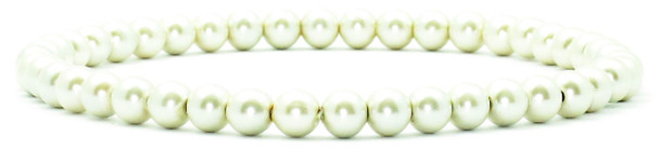 Simulated Pearls- Hematite Magnetic Therapy Anklet