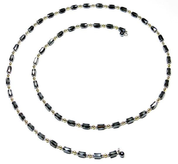Gold-plated Beads Lariat Necklace