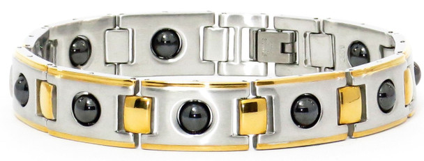 Accents - Gold-Plated Stainless Steel Magnetic Bracelet