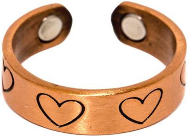Copper Hearts - Magnetic Therapy Ring