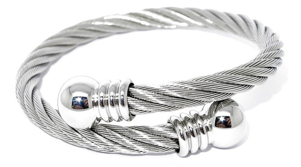Perfection - Silver-plated Magnetic Bangle
