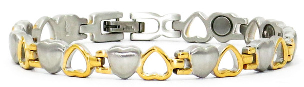 Opposites Attract - Stainless Steel Magnetic Therapy Bracelet