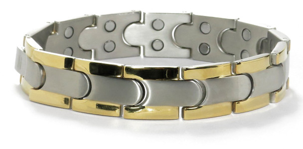 Titanium Civility - Magnetic Therapy Bracelet - Two 5,000 gauss magnets per link