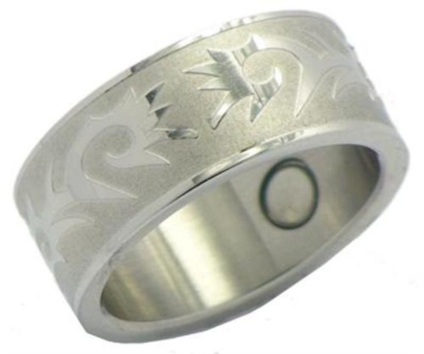 Hero - Stainless Steel Magnetic Therapy Ring