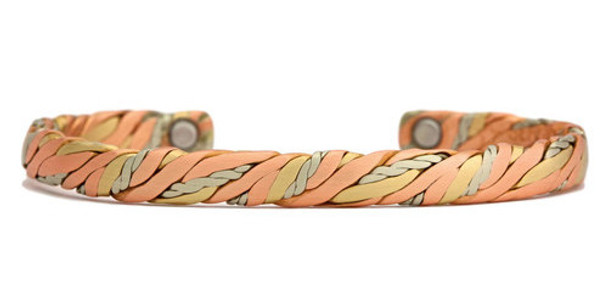 Sergio Lub Sweatlodge - Brushed Copper Magnetic  Bracelet
