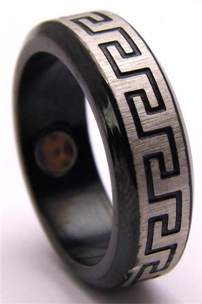 Stainless Steel Magnetic Therapy Ring (USR003)