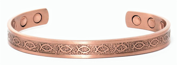 Ichthus - Solid Copper Cuff Bracelet