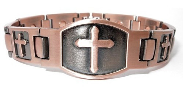 Cross - Copper Magnetic Therapy Bracelet