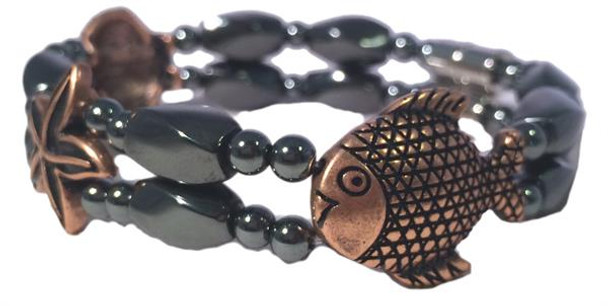Hematite & Coppertone Nautical - Magnetic Therapy Bracelet