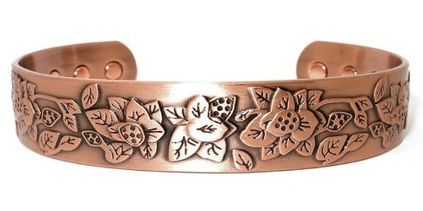 Mountain Rose Solid Copper Magnetic Therapy Bracelet