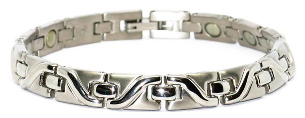 Pretty Lady - Silver-Plated  Titanium Magnetic  Bracelet