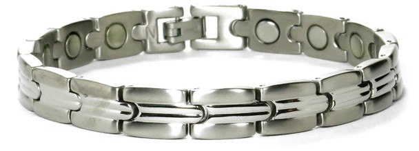 Mindful - Silver-plated Titanium Magnetic Therapy Bracelet