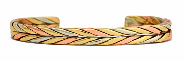 Autumn Wheat (224) Classic Copper Bracelet