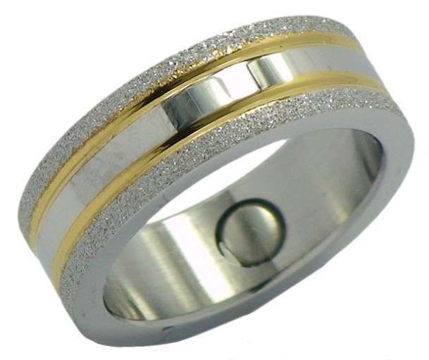 Star Dust - Stainless Steel Magnetic Therapy Ring