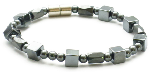 Hematite Cubes - Magnetic Therapy Bracelet