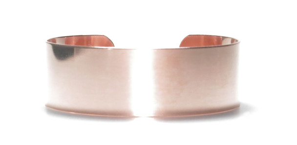 USA Made  - Solid Copper Cuff  Bracelet 3/4 inch wide