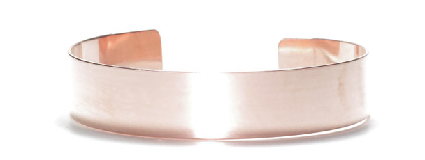 Solid Copper Cuff Bracelet 1/2 inch wide - Made in USA