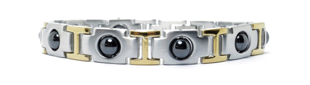 Gold Tone Pleasure - gold-plated Stainless Steel Magnetic Bracelet