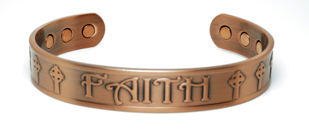 Faith - Copper Magnetic Therapy Bracelet