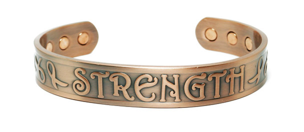 Strength  - Solid Copper Magnetic Therapy Bracelet