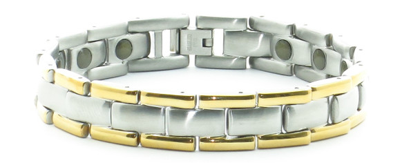 24/7 T Combo - Samarium Cobalt  - Stainless Steel Magnetic Bracelet